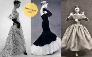 Balenciaga década de 50